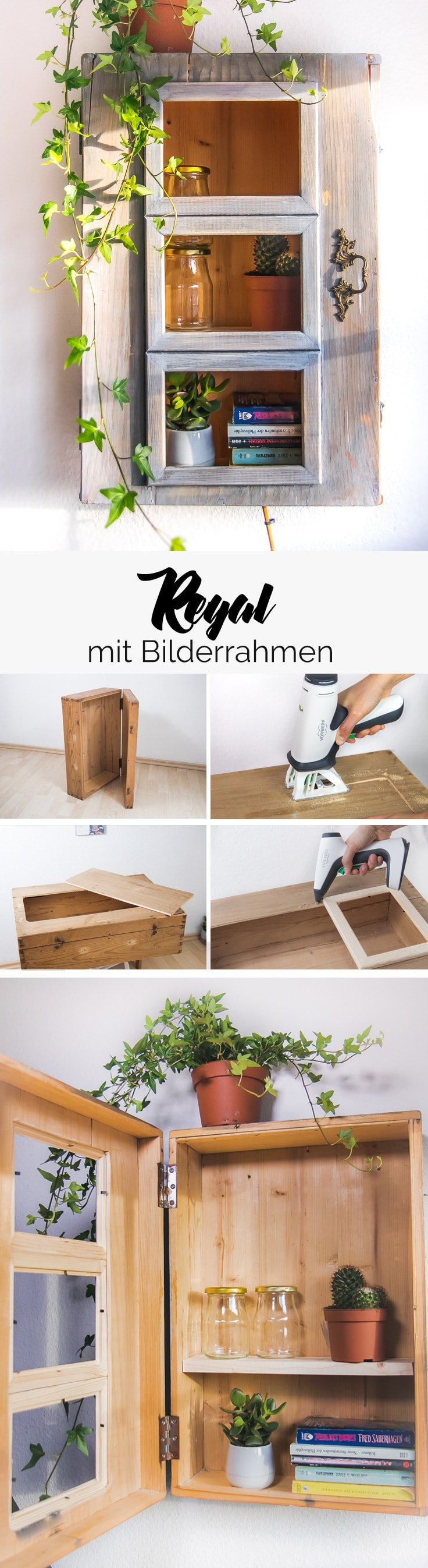 diy vitrinenschrank aus holzm bel ikea bilderrahmen einfach diy. Black Bedroom Furniture Sets. Home Design Ideas